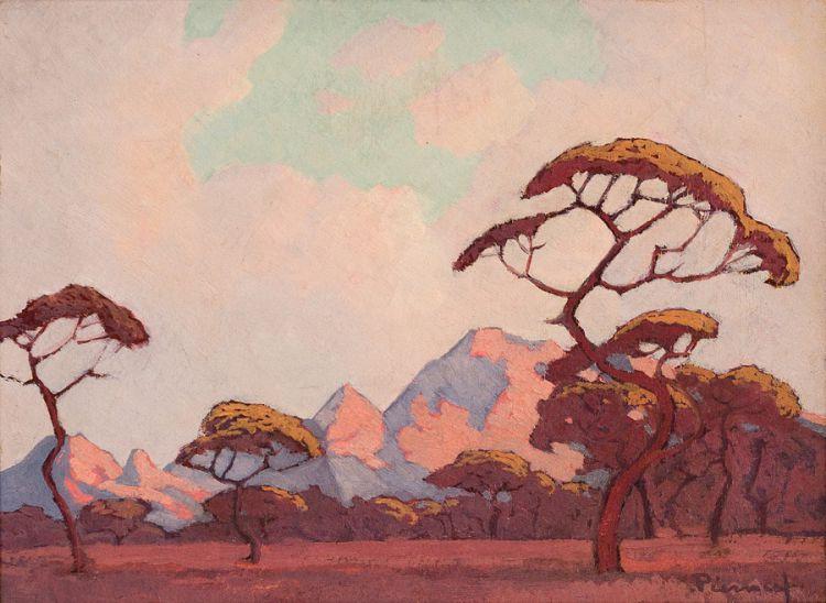 Jacob Hendrik Pierneef; Landscape with Acacias