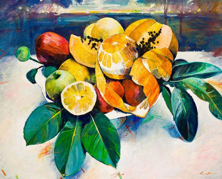 Louis van Heerden; Still Life with Fruit