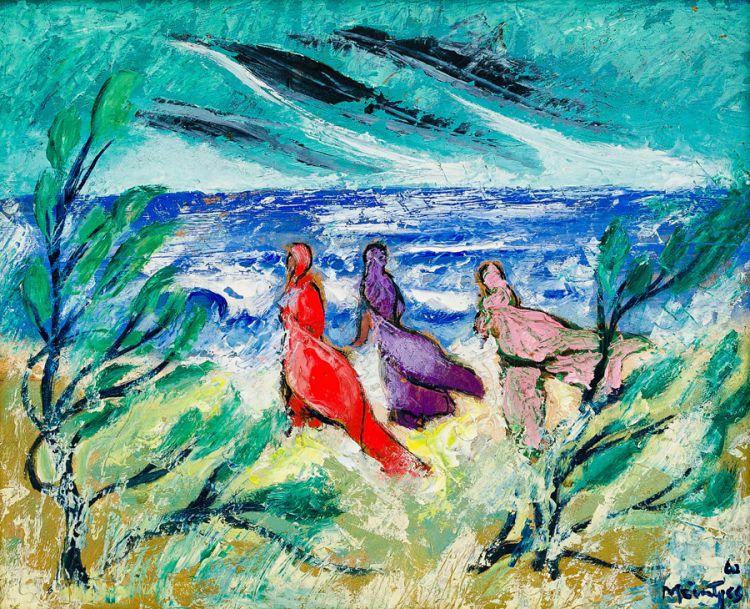 Johannes Meintjes; Indian Women on the Beach