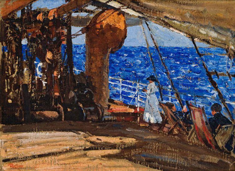 Robert Gwelo Goodman; Relaxing on Deck