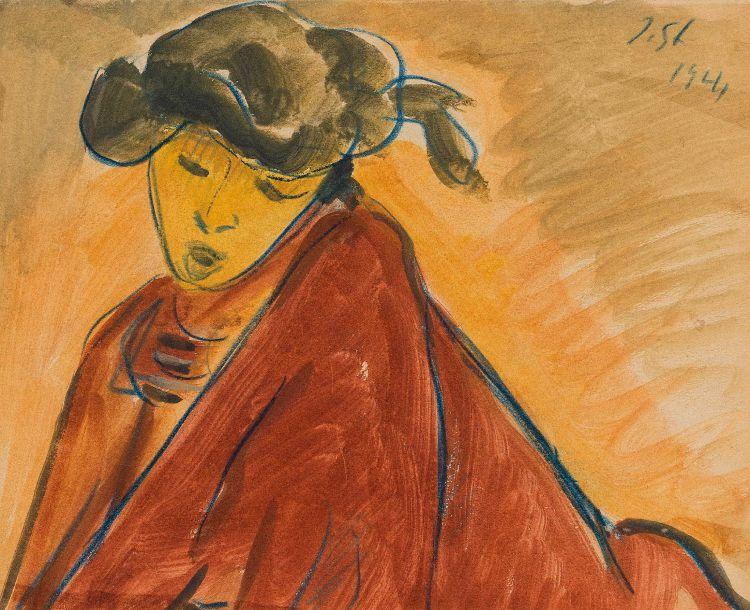 Irma Stern; Woman Wearing a Blanket