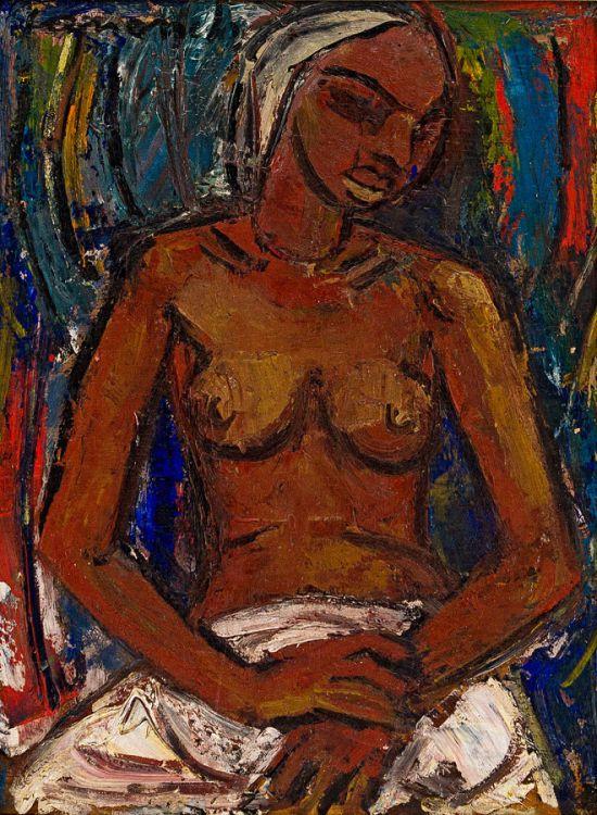 Maurice van Essche; Seated Nude
