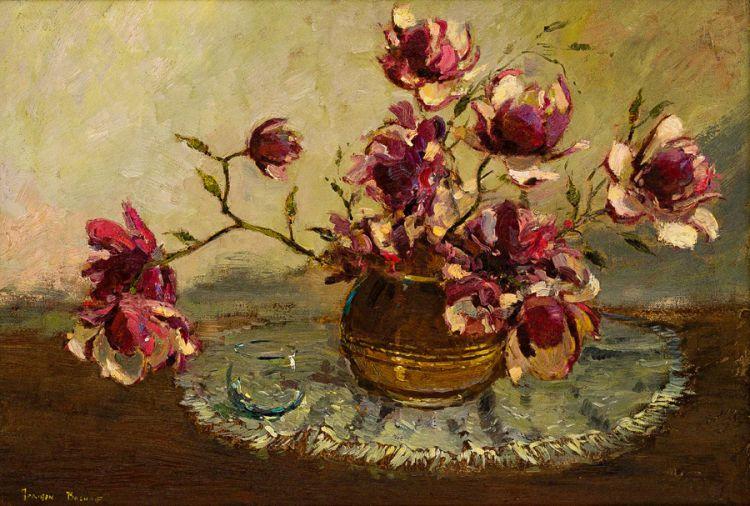 Adriaan Boshoff; Still Life with Magnolias