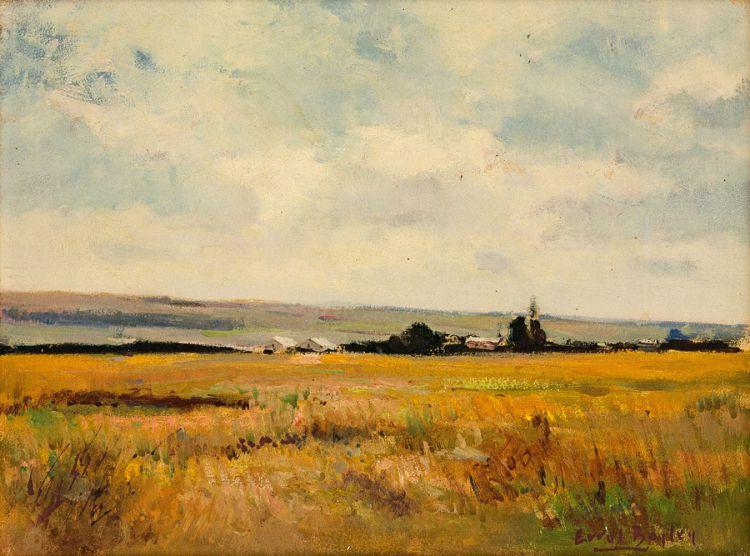 Errol Boyley; Landscape with Farmhouse