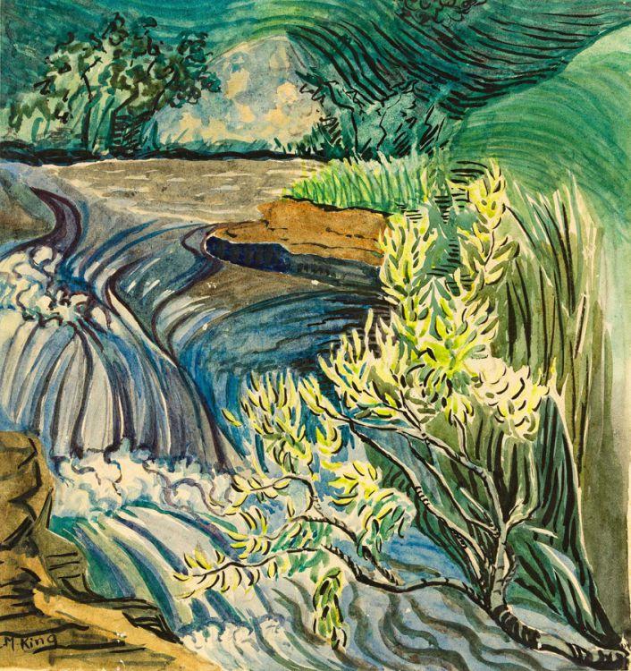 Edith King; Flowing Stream