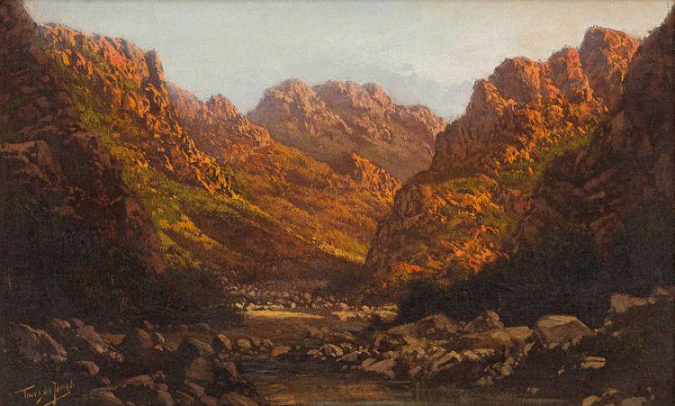 Tinus de Jongh; Valley Landscape