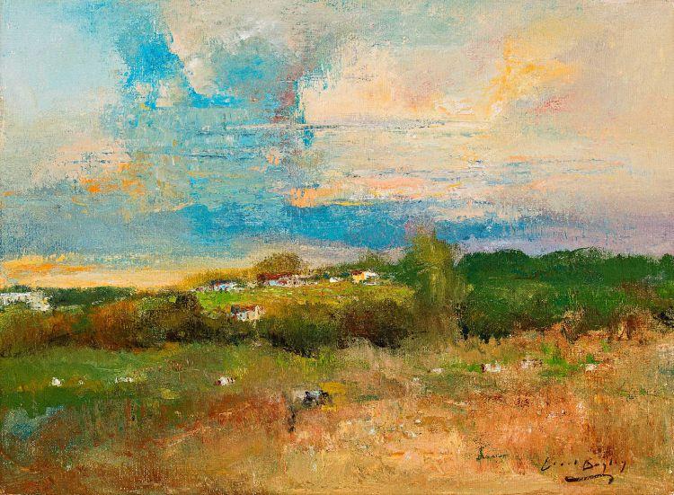 Errol Boyley; Landscape with Grazing Cattle