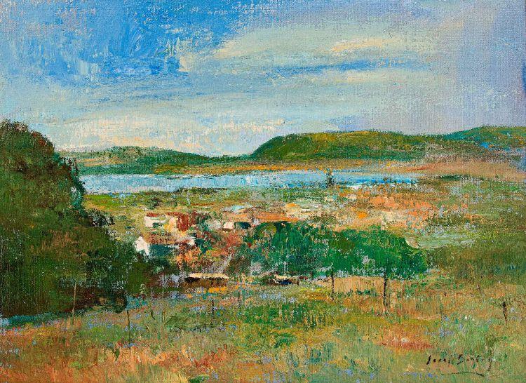 Errol Boyley; Verdant Landscape with Distant Lake