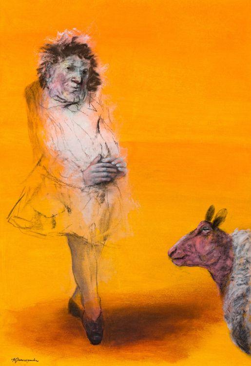 Karin Jaroszynska; Figure with Sheep