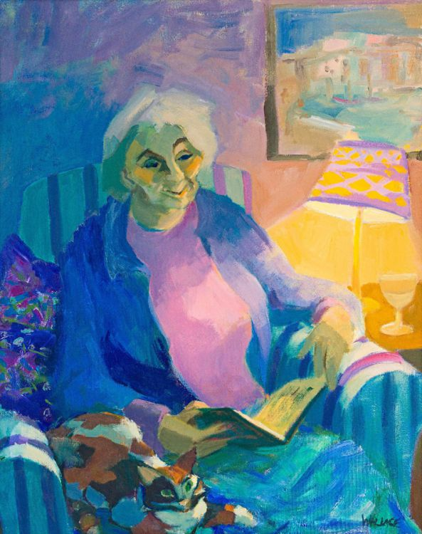 Marjorie Wallace; Reading with The Cat