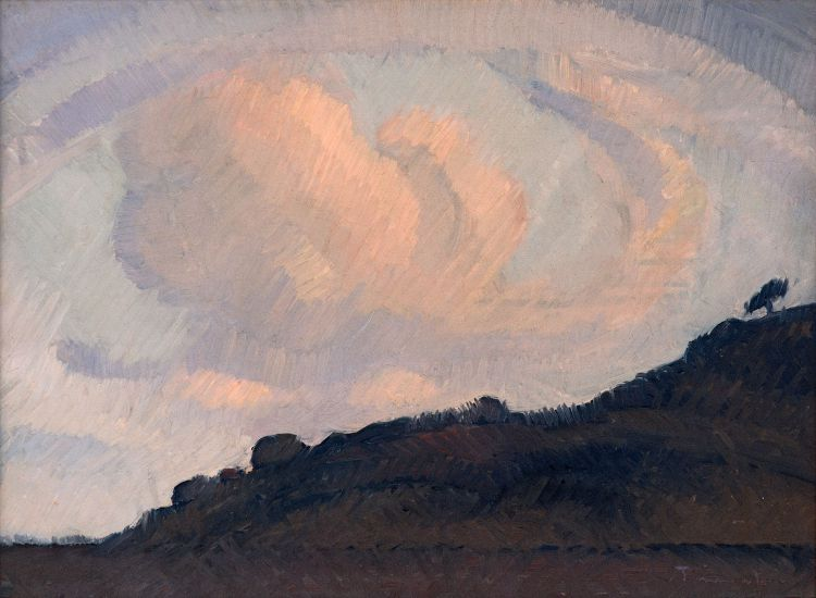 Jacob Hendrik Pierneef; Landscape with Clouds