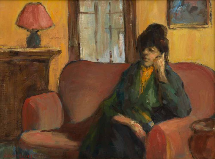 Alexander Rose-Innes; Woman on Sofa