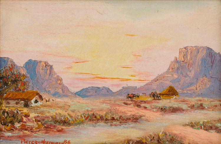 Pieter van der Westhuizen; Houses in a Landscape