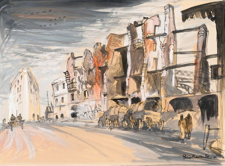 Philip Bawcombe; Naples (Dock Area) after the Bombing