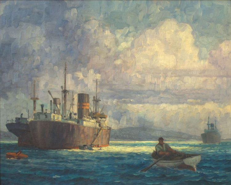 Nils Andersen; Two Greek Cargo Ships