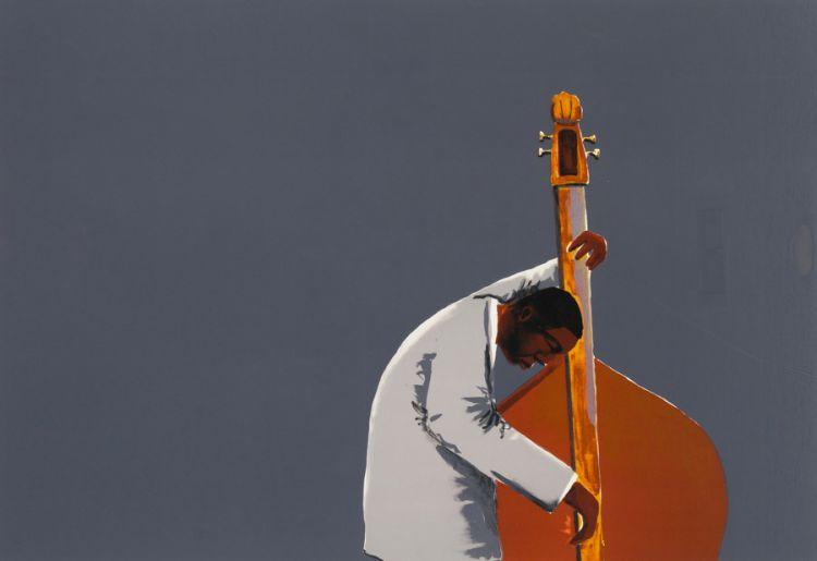 Sam Nhlengethwa; Inspired by Ron Carter