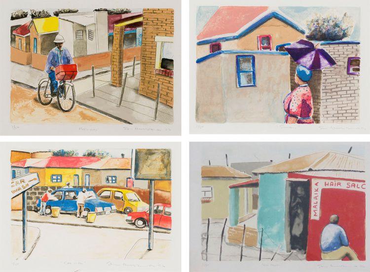Sam Nhlengethwa; Township series, four