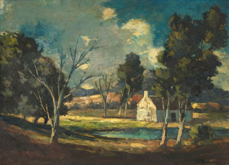 James Thackwray; Cottage Among Trees