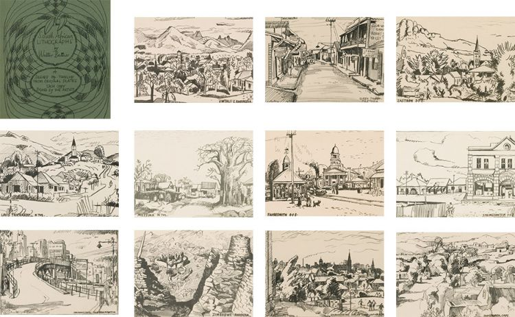 Walter Battiss; South African Lithographs by Walter Battiss, Series of Twelve from Original Plates,13 including title page
