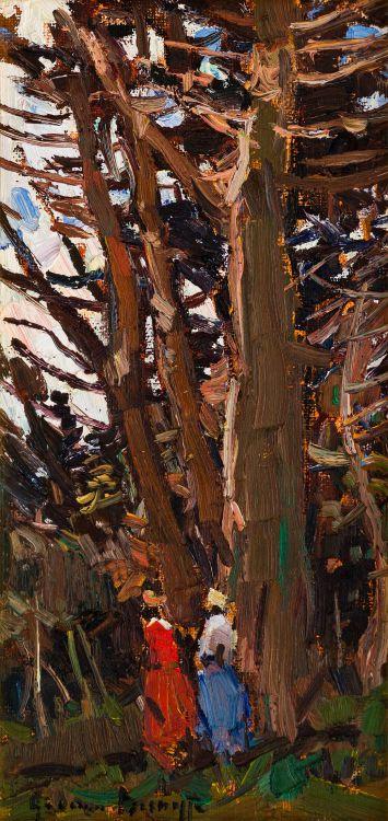 Adriaan Boshoff; Figures Beneath Trees