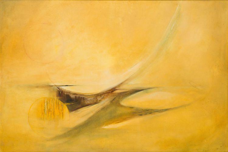 Fleur Ferri; Yellow Abstract