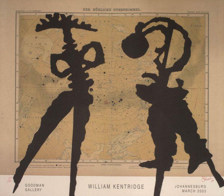 William Kentridge; Goodman Gallery, Johannesburg, March 2003, Exhibition Poster