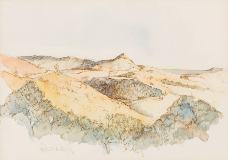 Frederike Stokhuyzen; Landscape with Mountain Peak