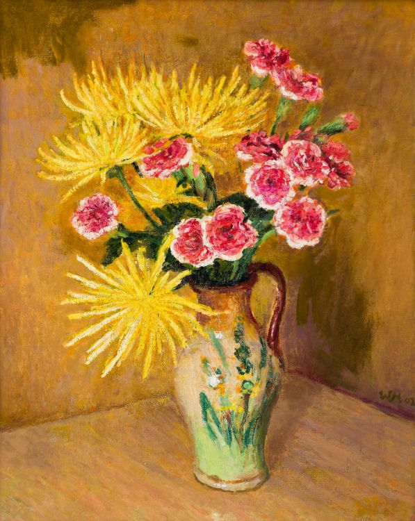 Walter Meyer; Carnations and Carnations in a Jug