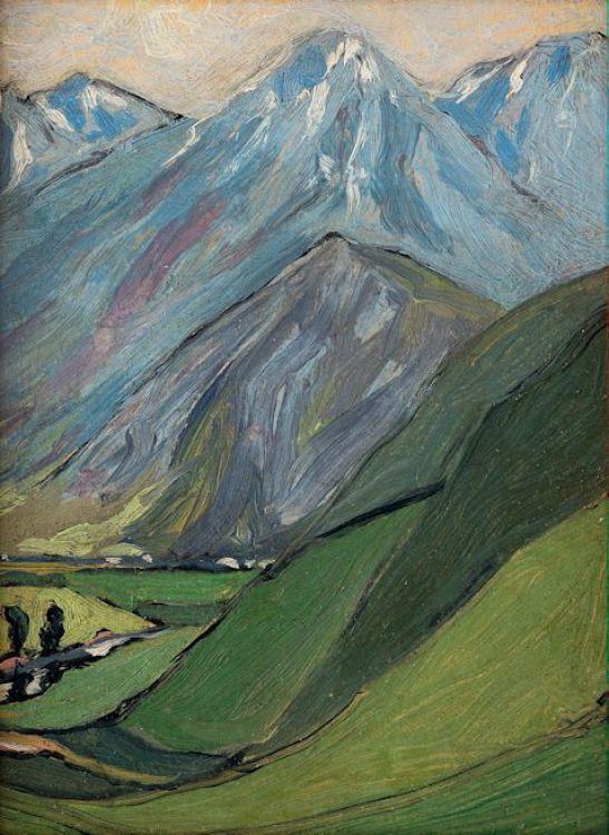 Jacob Hendrik Pierneef; Mountain Study