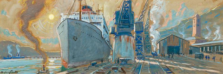 Sydney Carter; East London Docks