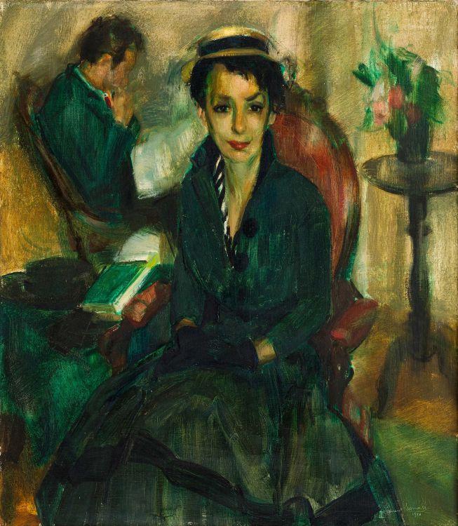 Clement Serneels; Lady in Green