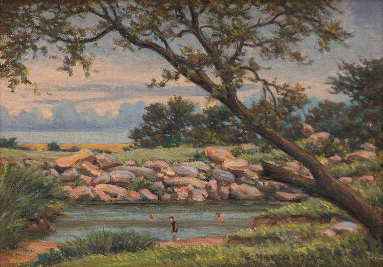 Erich Mayer; Swimming