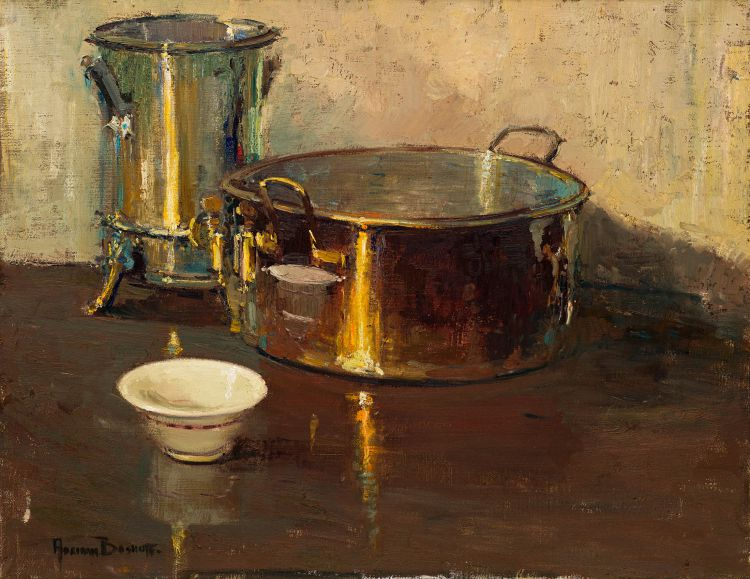 Adriaan Boshoff; Urn and Copper Pot