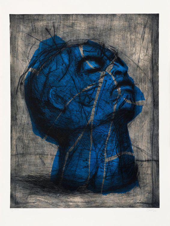 William Kentridge; Head: Blue