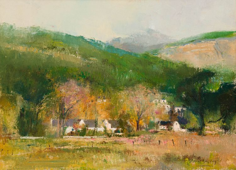 Errol Boyley; Cape Dutch Houses and Mountains