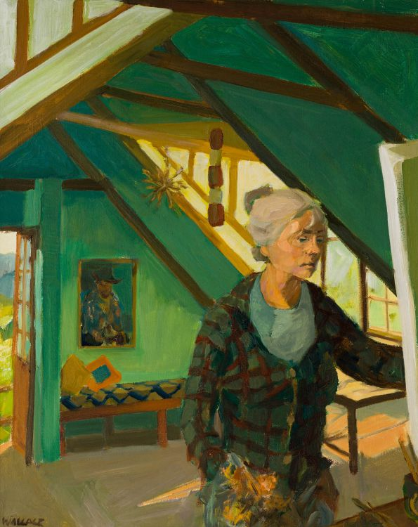 Marjorie Wallace; Self Portrait in Her Studio, Onrust