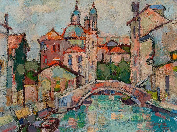 Gregoire Boonzaier; Venetian Canal Scene