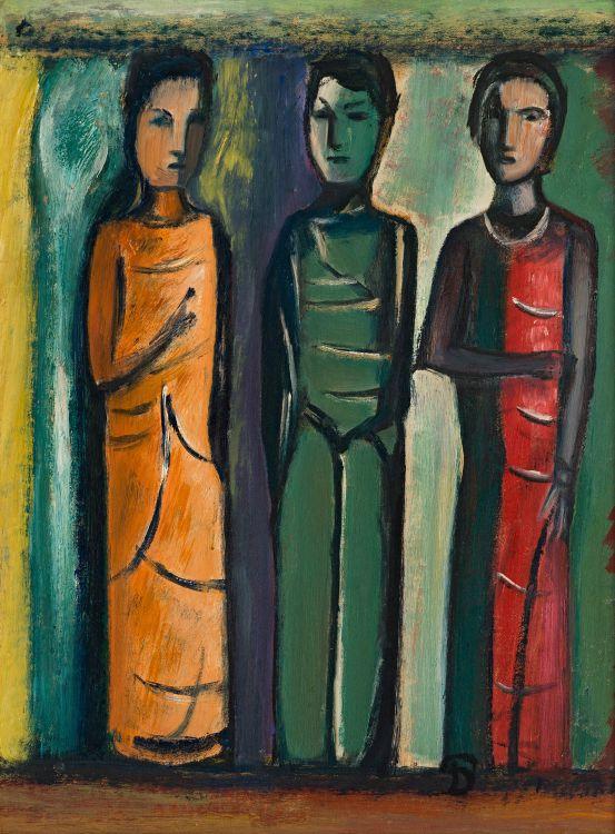 Pranas Domsaitis; Three Figures