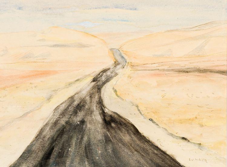 Maud Sumner; Roadway through Mountains