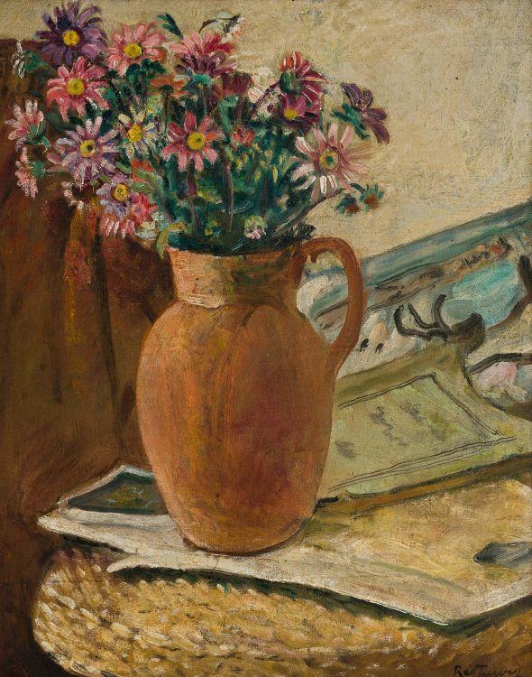 Reginald Turvey; Daisies in a Jug