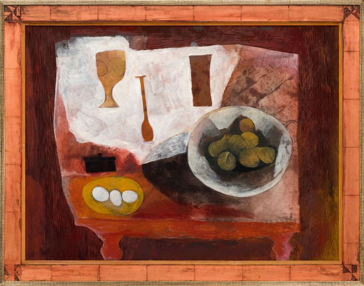 Cecil Skotnes; Still Life with Bowls and Utensils