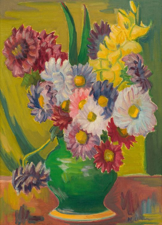 Maggie Laubser; Still Life with Flowers