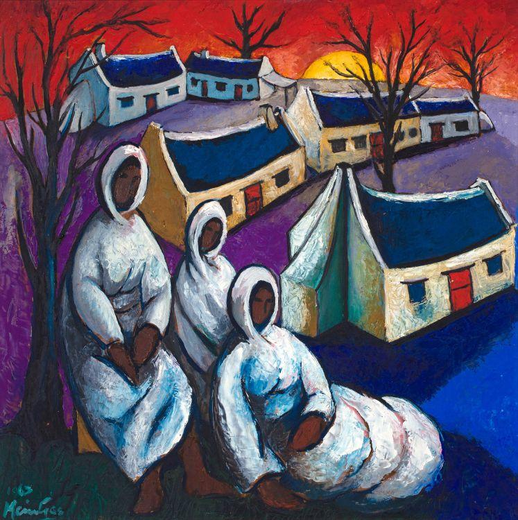 Johannes Meintjes; Village with Women