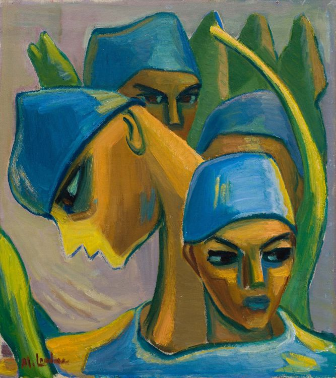 Maggie Laubser; Composition with Four Heads