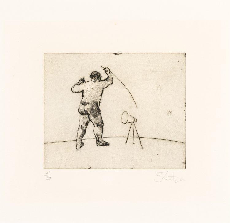 William Kentridge; Untitled (Artist Standing)