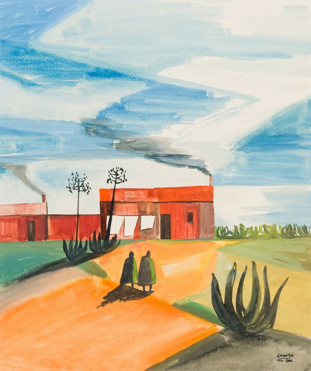 Peter Clarke; Landscape with Sisal Trees