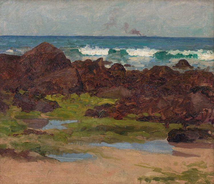 Bertha Everard; Seascape