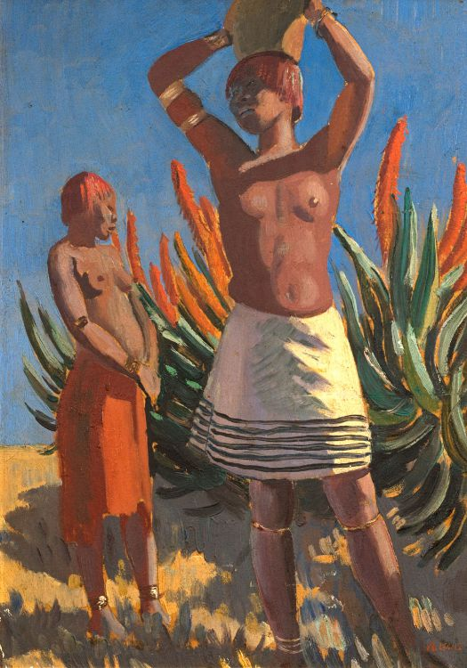 Alfred Neville Lewis; Pondo Women with Aloes