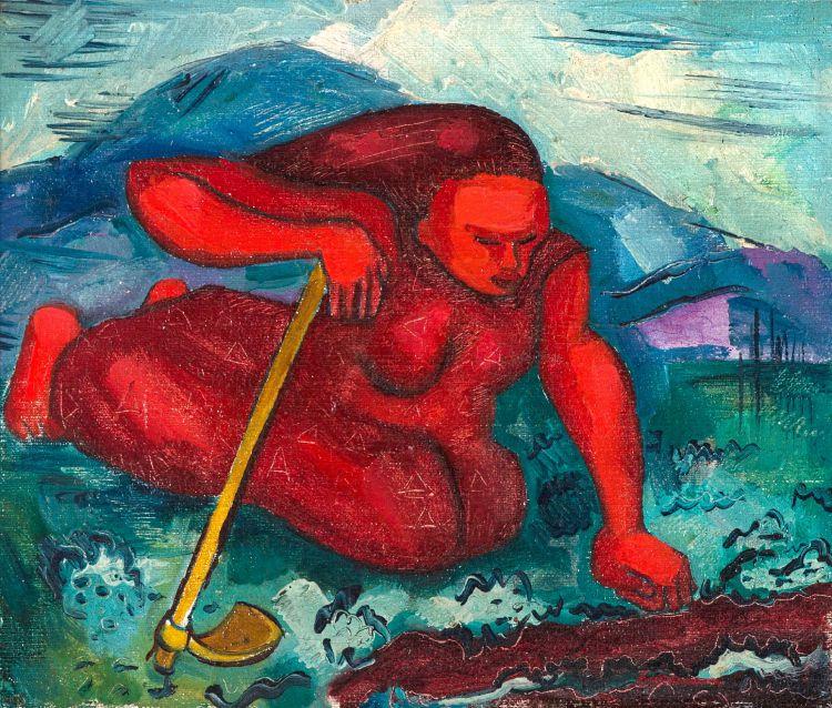 Alexis Preller; Red Figure Tilling