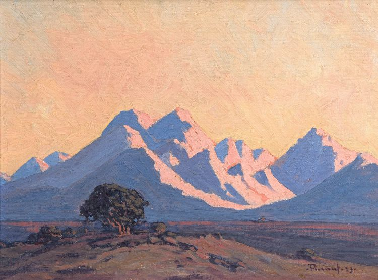 Jacob Hendrik Pierneef; Namibian Sunset